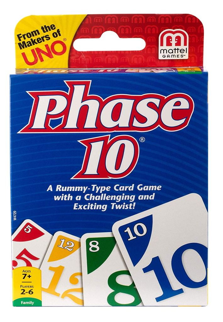 Phase 10 is a card game.